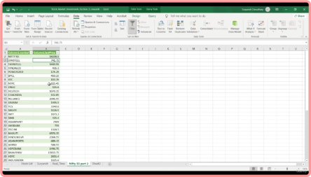 Simulation Game - Stock Market in Excel