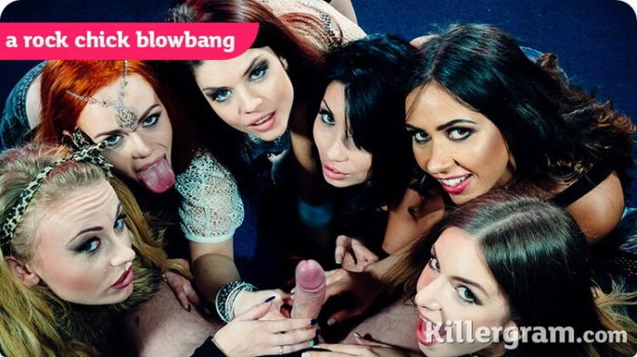 KillerGram.com: A Rock Chick Blowbang Starring: Roxy Lea