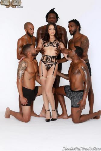 BlacksOnBlondes/DogFartNetwork - Avi Love - GangBang Big Black Cock (FullHD/1080p/3.32 GB)