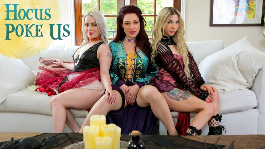 NubilesET.com / Nubiles-Porn.com: Haley Spades, Jessica Ryan, Kenzie Reeves - Hocus Poke Us [FullHD 1080p] (1,83 Gb) - October 20, 2021