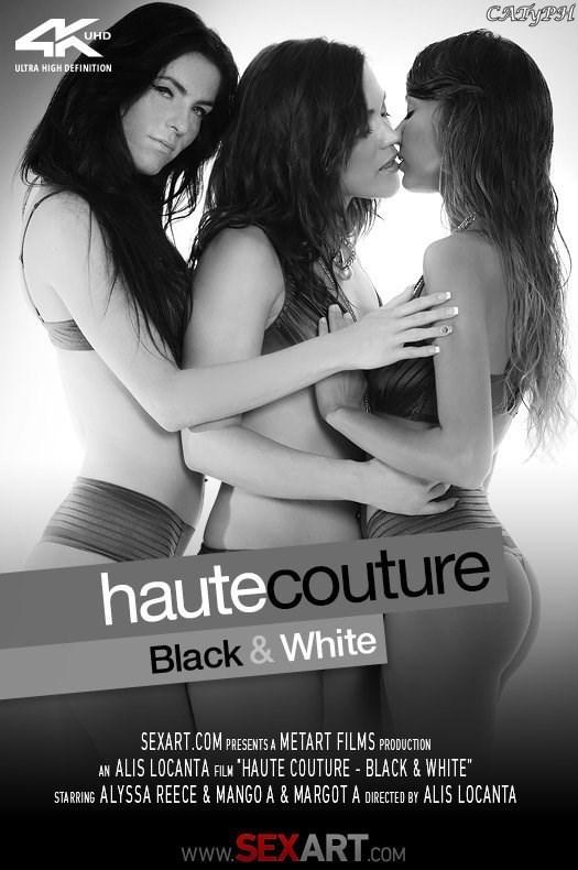 SexArt.com / Met-Art: Haute Couture -, Black, White [Alyssa Reece, Mango A [FullHD 1080p] (1.11 Gb)