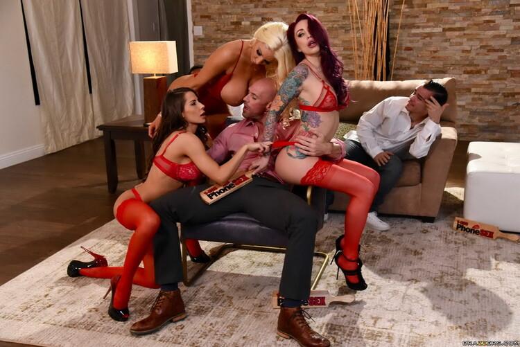 BrazzersExxtra/Brazzers - Madison Ivy, Monique Alexander, Nicolette Shea - 1 800 Phone Sex: Line 8 [FullHD 1080p]