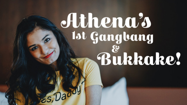 TexxxasBukkake / TexasBukkake.com / ManyVids.com: Viva Athena - Athenas 1st Gangbang, Bukkake [HD 720p] (1.4 Gb)