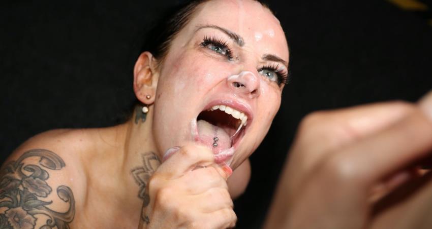 SplatBukkake.com / UKxxxPass.com: Tiana Knight,  -, Lusty newcomer Tiana takes debut facials, [FullHD 1080p] (741.23 Mb)