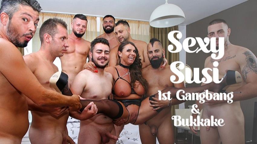 TexasBukkake.com: Sexy Susi - Sexy Susis - 1st Gangbang, Bukkake [FullHD 1080p] (1.32 Gb)
