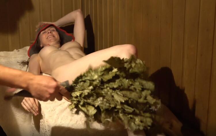 Porn - realdaddysangel - Russian Sauna Fun with LisichkaMila very Hot Sweaty Fuck and Cum in Mouth [UltraHD 2K 2158p]