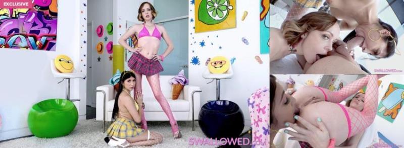 Penelope Woods, Aliya Brynn ~ SLOPPY TOPPY WITH PENELOPE, ALIYA ~ Swallowed.com ~ HD 720p