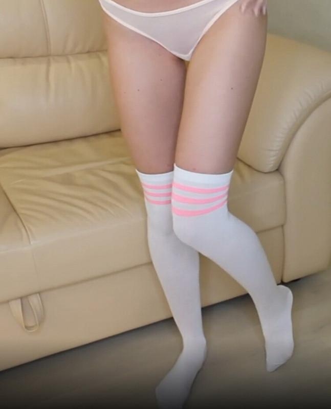 Onlyfans.com: Cute girl in knee socks gets pleasure when her boyfriend fucking her Starring: Slim Sonya