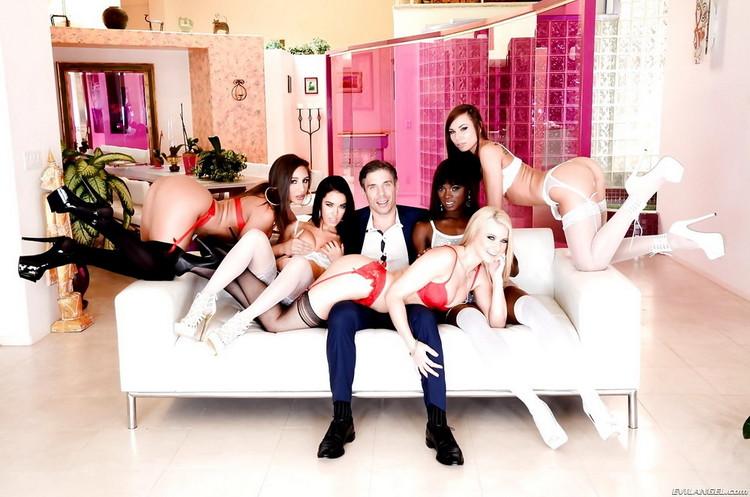 EvilAngel: Megan Rain, Anikka Albrite, Abella Danger, Ana Foxxx, Aidra Fox, Mick Blue - Mick Blues Best Day Ever, Scene 3 [HD|720p|1.99 GB]
