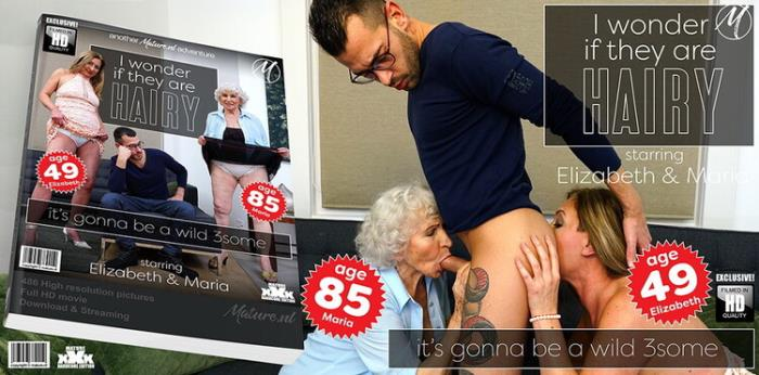 Mature.nl: A hairy granny threesome goes extremely wild Starring: Elizabeth (49)