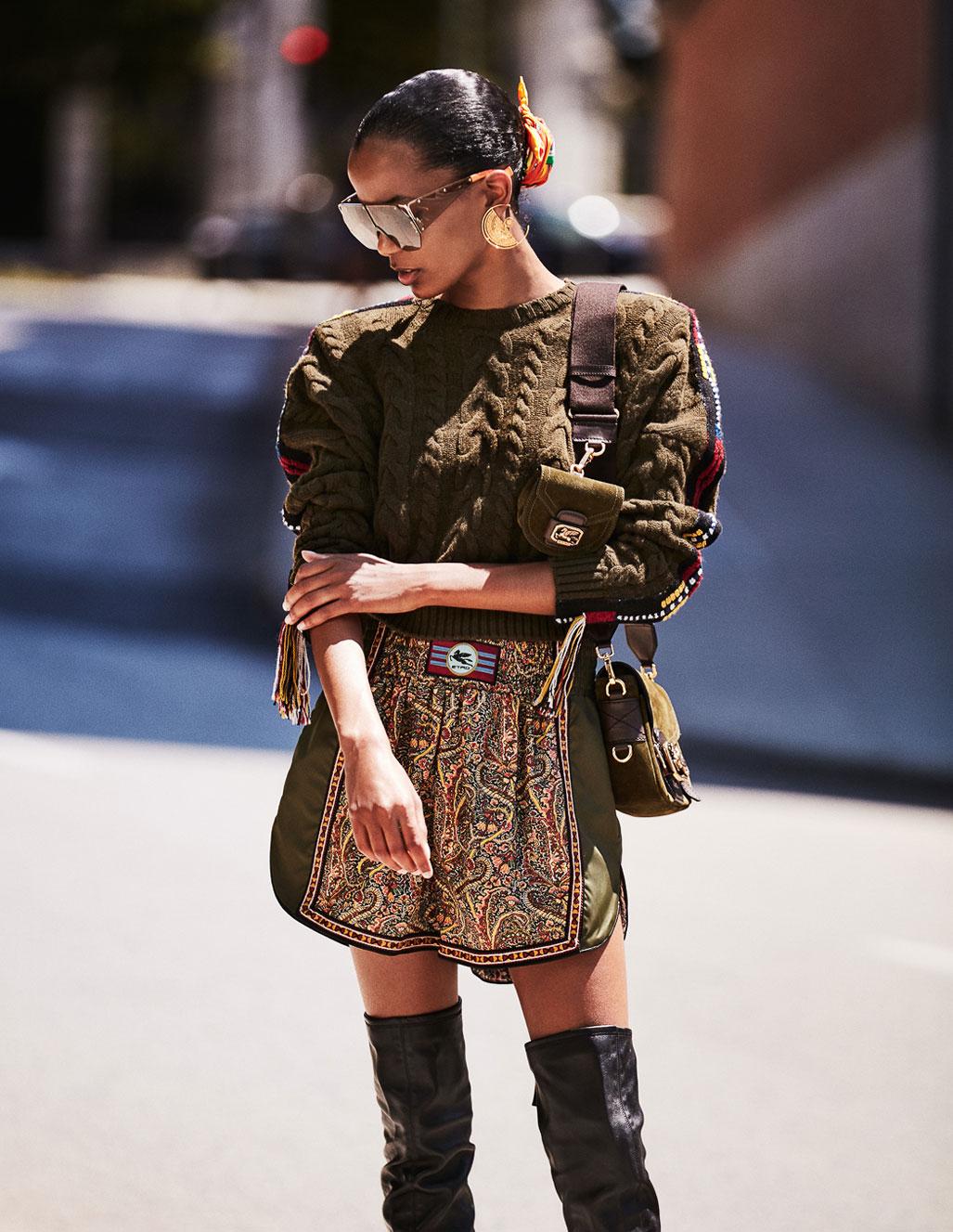 осенняя мода на страницах Elle Испания / фото 12